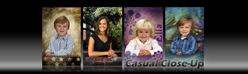 Casual Close-Up Backgrounds for School Photography