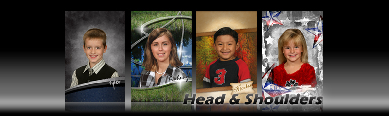 Head and Shoulders Backgrounds for School Photography