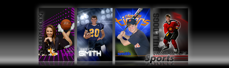 Digital Sports Backgrounds and Custom Sports Posters