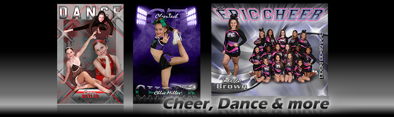 Cheer and Dance Custom Poster Templates