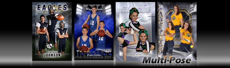MultiPose Custom Sports Poster Photo Templates