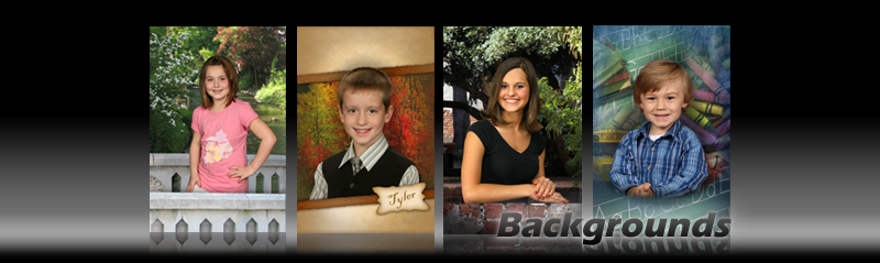 Digital Backgrounds for School Portraits