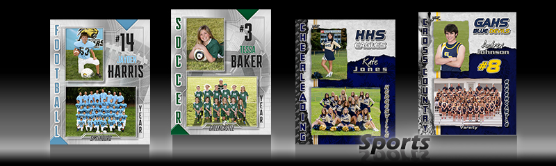 Classic Sports Photo Templates for Flat Prints