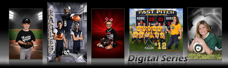 Digital Sports Backgrounds and Custom Sports Poster Templates