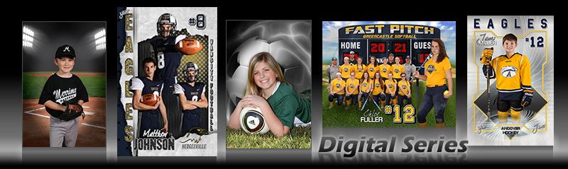 digital sports photo templates