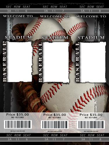 29+ Blank Ticket Templates - PSD, Vector EPS, AI, Word ...  |Blank Baseball Game Ticket