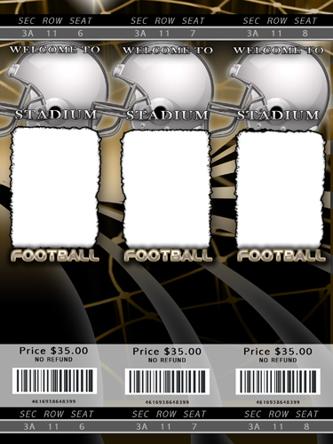 Nfl football ticket template