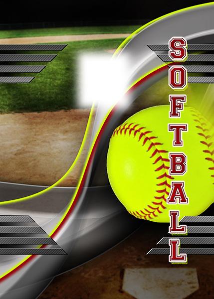 softball photo templates
