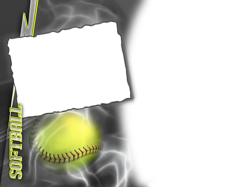 softball photo templates